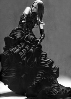 Christian Dior Haute Couture, photographed by Horst Diekgerdes for Vogue Japan. Goth gothic fashion