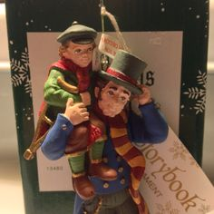 DEPT 56 Bob Cratchit Tiny Tim Ornament Hand by VisualaromasVintage