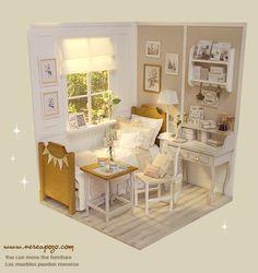 Nerea Pozo Art: ♥ Handmade miniature diorama CLOUD HEAVEN Bedroom...