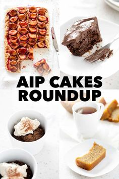 When you first start the AIP diet, it's easy to think that any sort of dessert is out of the question. But here's a bunch of AIP cakes that prove, you can have your cake and eat it too! Asian Desserts, Sugar Free Desserts, Great Desserts, Carob Chocolate, Chocolate Beet Cake, Paleo Dessert, Healthy Dessert Recipes, Paleo Recipes, Free Recipes