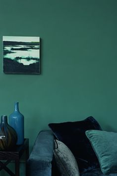 Teal is one of those colours that some people see as blue and others see it as green. We just think it's fabulous! This is Zoffany's Teal
