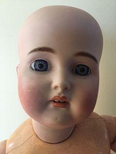 """Это большой!!! 31"""" Антиквариат 191 ребенка кукла с фантастический тела и СОЕДИНЕНИЯМИ на ПЛЕЧИ. ГОЛОВА ИМЕЕТ ПРОТИРКИ НА ЩЕКИ И СЕРЕБРЯННОЙ НА НИЖНЕМ ГЛАЗ. Красивый наборглаза. НЕКОТОРЫЕ ДЕФЕКТЫ НА ОТВЕРСТИЙ. ТЕЛО ФАНТАСТИЧЕСКИЙ. ОБЫЧНЫЙ ИЗНОС ОТ ВОЗРАСТА. БОЛЬШОЙ ТЯЖЕЛЫЙ КОРПУС. НА САМОМ ДЕЛЕ БОЛЬШОЙ!!"""