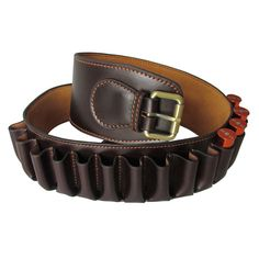 Tourbon 12 GA Shotgun Cartridge Ammo Belt Bandolier Holder Leather w/ 23 Pockets #Tourbon