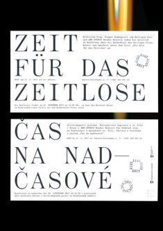 """mareknedelka: """"Die Zeit für das Zeitlose, stamped invitations for the conference about the past, present and future of the Prague's St. Vitus Cathedral / Regensburg's Dom St. Peter and their architectural transformations, 2017 """" Graphic Design Art, Graphic Design Inspiration, Book Design, Print Design, Text Design, Text Layout, Print Layout, Layout Design, Typography Love"""