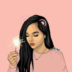 Black Girl Art, Black Women Art, Art Girl, Girly Drawings, Cool Drawings, Cute Drawlings, Character Illustration, Digital Illustration, Girly M