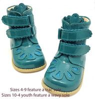 Livie & Luca Floret Turquoise Patent Leather Girls Boots Sizes 10-4    Black Friday Doorbusters Now $39.99