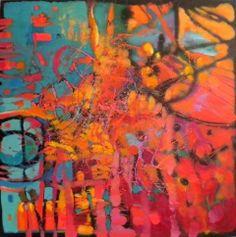 Garlands 100x100cm olej na płótnie Maya, Paintings, Paint, Painting Art, Painting, Painted Canvas, Drawings, Maya Civilization, Grimm