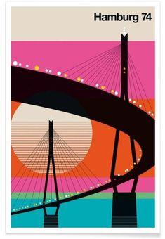 "printdesignclub: ""Hamburg 74 als Premium Poster von Bo Lundberg Print Design """