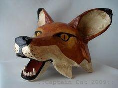 paper mache animal masks: