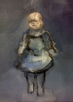 Pascale Chandler. A little random painting of a glass doll. March 2015