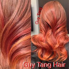Guy Tang Hair Artist -My client @zillizy loves her hair red and fiery and we talked about why more people should try warmer or red tones! I love reds and I wish more girls would do it! Lizzy is also the beauty editor for @Beauty Launchpad #ombre #ombrehair #balayage #hairstyle #ombré