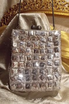 Vintage Silver Mirror Evening Bag Designer by TheEclecticDiva, $48.00