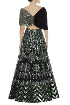 Buy Applique work organza lehenga set by Reeti Arneja at Aza Fashions Designer Party Wear Dresses, Indian Designer Outfits, Indian Outfits, Indian Clothes, Lehnga Dress, Lehenga Blouse, Lehenga Choli, Ideas Prácticas, Indian Gowns Dresses