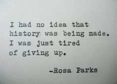 ROSA PARKS Quote Hand Typed Quote Made with by PoetryBoutique,