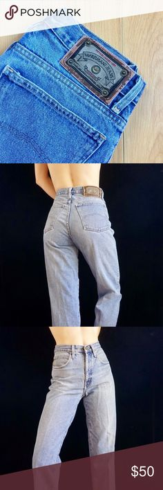 07b3b56fada7 Vintage Armani high waisted mom jeans Vintage high waisted mid wash denim  ARMANI mom jeans.