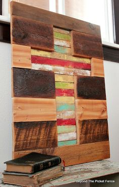 Barnwood and Lathe Cross, http://bec4-beyondthepicketfence.blogspot.com/2016/02/barnwood-lathe-cross-sign.html