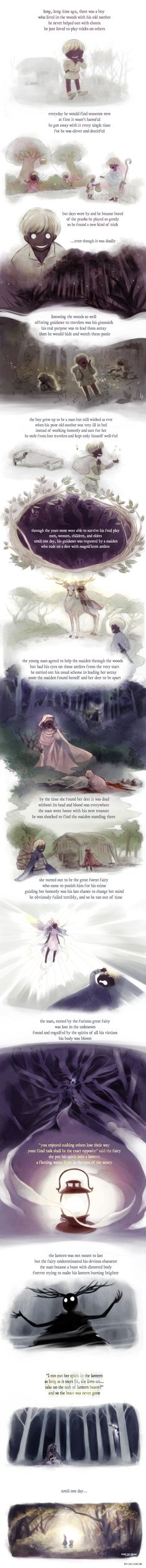 "From a boy to the Beast by zeldacw.deviantart.com on @DeviantArt ""this idea came to me after watching Over the Garden Wall."""