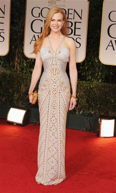 Nicole Kidman arrives at the 69th Annual Golden Globe Awards in Beverly Hills on Jan. 15, 2012.