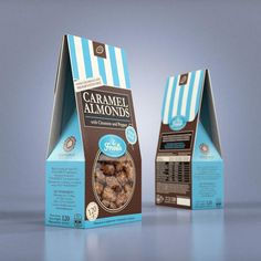 Caramel almonds with Cinnamon and Pepper - Sugar nuts Package Design by Studio43