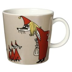 Another Moomin mug, this one the Fillyjonk. From The Moomin Shop. Moomin Shop, Moomin Mugs, Classic Dinnerware, Tove Jansson, Shops, Tea Art, Ceramic Cups, Marimekko, Whimsical Art