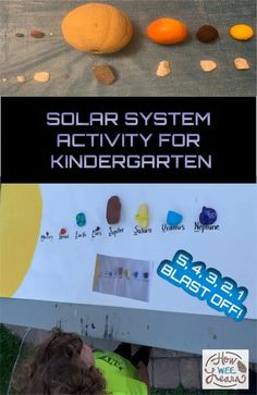 The kids absolutely loved this solar system activity for kindergarten. So much fun painting rocks as planets, eating fruit planets and going on a scavenger hunt! Kids Learning Activities, Kindergarten Activities, Preschool, Names Of The Planets, Planet Pictures, Solar System Activities, Planet Painting, Magic School Bus, Kindergarten