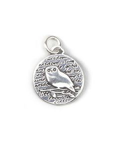 Another great find on #zulily! Sterling Silver Small Owl Pendant #zulilyfinds