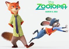 First look at Nick Wilde and Judy Hopps from Disney's Zootopia. Teaser trailer coming out soon