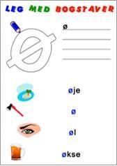 Opgavesættet arbejder med bogstaver, i dette sæt bogstaverne v,w,x,y,z,æ,ø og å. Der er en udgave med de små bogstaver, og en med de store bogstaver.  Der er også en introduktion, som kan benyttes på smartboards til at præsentere opgaven (powerpoint og flipchart).  I opgaven skal eleverne både udtale og skrive bogstaver, genkende ord samt farvelægge bogstaver.