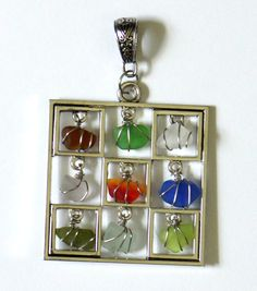 Colorful Sea Glass Pendant  Featuring Rare Colors (photo by OceansBounty)