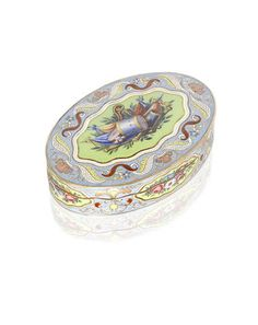 """A 19th century Swiss """"Turkish Market"""" gold and enamelled snuff box unmarked"""