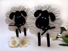 Kreatív diy ötletek húsvétra – Húsvéti bárány fonalból és csipeszből - kreativvilagom.hu: