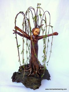 Weeping willow dryad art doll by Vanessa Witschi from Mermaids Dreaming www.facebook.com/mermaidsdreaming