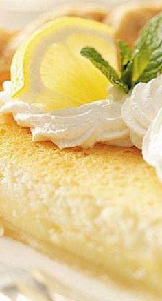 Food Photography: Mom's Lemon Custard Pie - Home Lemon Desserts, Köstliche Desserts, Lemon Recipes, Sweet Recipes, Delicious Desserts, Dessert Recipes, Yummy Food, Custard Desserts, Health Desserts