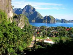 View from View Deck Cottages- elnido, palawan philippines
