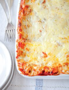 Mary Berry's Red Pepper, Mushroom & Leek Lasagne