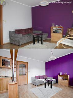 Nieruchomości Olsztyn. Piękny salon w blasku profesjonalnego fotografa i projektantki zyskuje właściwe oblicze.    #MieszkaniaOlsztyn Interior Decorating, Decorating Ideas, Home Staging, Purple, Pink, Drawing Rooms, Drawing Room Interior, Purple Stuff, Decorating