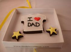 these are adorable - fathers day biscuit cards