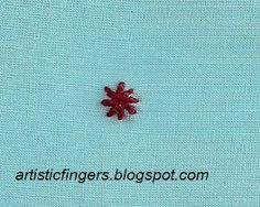 artisticfingers: Lesson 4- Chikan embroidery sal