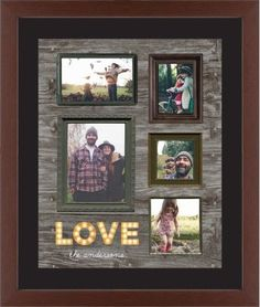 Photo Real Love Framed Print, Brown, Contemporary, None, Black, Single piece, 16 x 20 inches, Brown