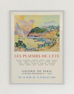 Paul Signac Exhibition Poster 1965 – hellethygesen.com Renoir, Michel Ciry, Monet, Lavender Paint, Paris 14, Exhibition Poster, Painting Frames, Poster Prints, Christian