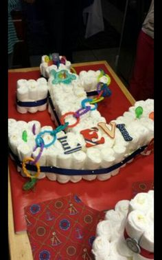 Anchor diaper cake