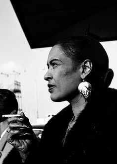 beauvelvet:  Billie Holiday by Jean-Pierre Leloir, 1958.You can't copy anybody and end with anything. If you copy, it means you're working without any real feeling.