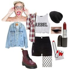 """""""Miley Cyrus Halloween Costume"""" by addiwood on Polyvore"""