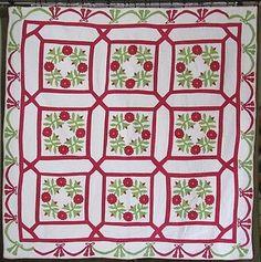 Stunning Antique Presidents Wreath Appliqued Quilt Provenance 1851 Clean | Vintageblessings