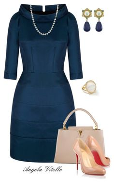 """Untitled #567"" by angela-vitello on Polyvore featuring Louis Vuitton, Christian Louboutin, Ippolita and Vintage"