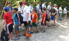 Doing a little hand shaking.  One of Camp's great traditions!