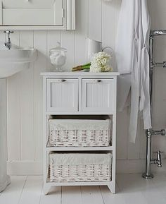 There are a certain things that are considered a must in almost every contemporary home and while we may not worry excessively about bathroom design when ... & Tallboy Bathroom Cabinet Hallway Storage Unit in White Stow | ideas ...