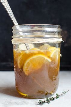 Homemade Medicine Made Simple: Sweet Lemon Honey & Thyme Cough Syrup Recipe. Check also: www.secretsforextraordinaryhealth.com/knockout-home-remedy-sore-throat-cold-sinus-infection/