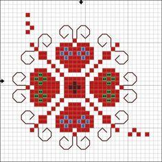 Cross Stitch Designs, Cross Stitch Patterns, Crochet Patterns, Folk Embroidery, Cross Stitch Embroidery, C2c Crochet, Cross Stitch Heart, Cards, Desktop