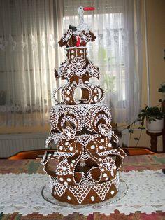 Croquembouche, Bread Art, Sugar Craft, Fancy Cakes, Cake Cookies, Cake Designs, Food Art, Gingerbread, 3 D